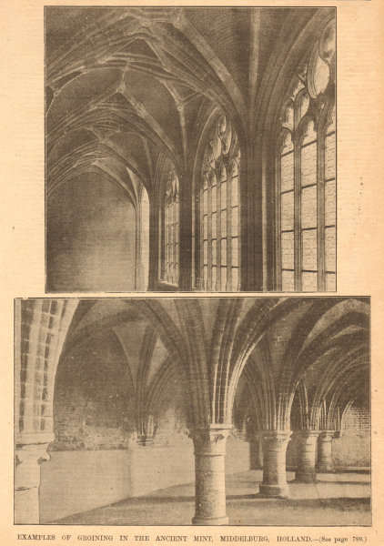 Associate Product Examples of Groining in the ancient Mint, Middelburg, Holland. Netherlands 1902