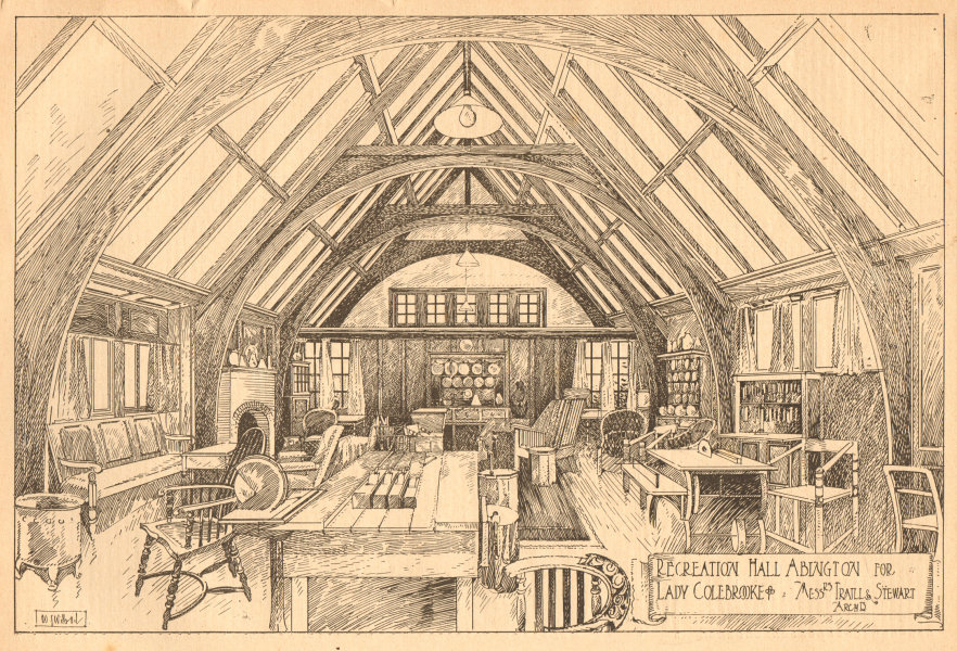 Associate Product Recreation hall, Abington for Lady Colebrooke. Traill & Stewart. Northants 1902