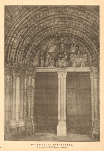 Associate Product Doorway at Pontaubert (from a photo by Mr. H. Halliday Sparling). Yonne 1903