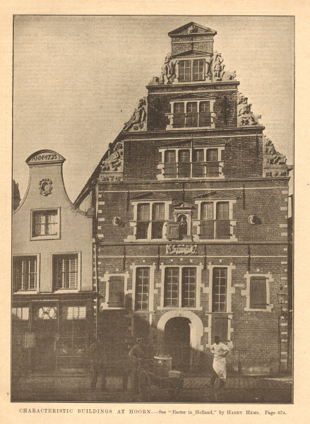 Associate Product Characteristic building at Hoorn, by Harry Hems. Netherlands 1903 old print