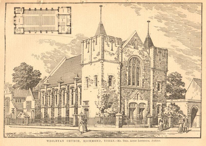 Associate Product Wesleyan Church, Richmond, Yorkshire. Thos. Acton Lofthouse Architect. Plan 1904
