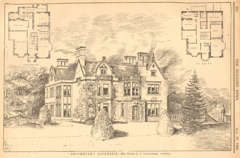Associate Product Broombush, Lockerbie - Mr. Frank J.C. Carruthers, Architect. Scotland 1904