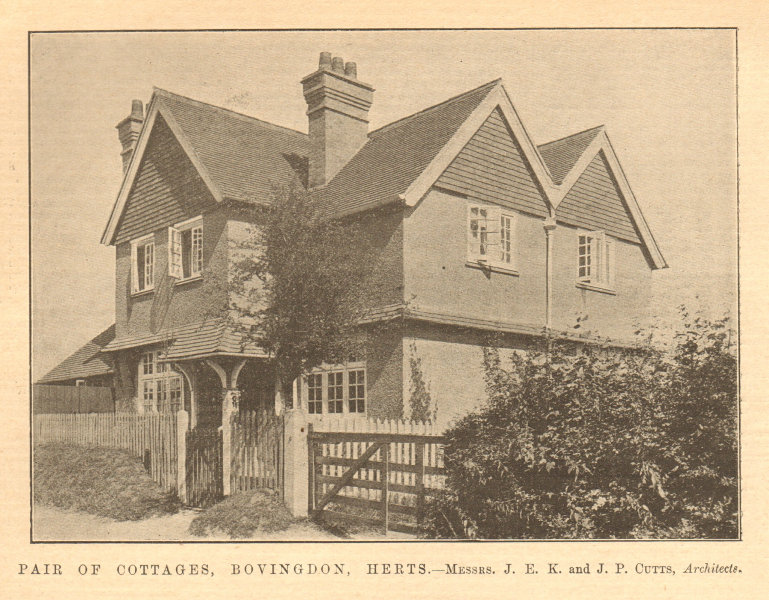 Associate Product Pair of cottages, Bovingdon. JEK & JP Cutts, Architects. Hertfordshire 1904