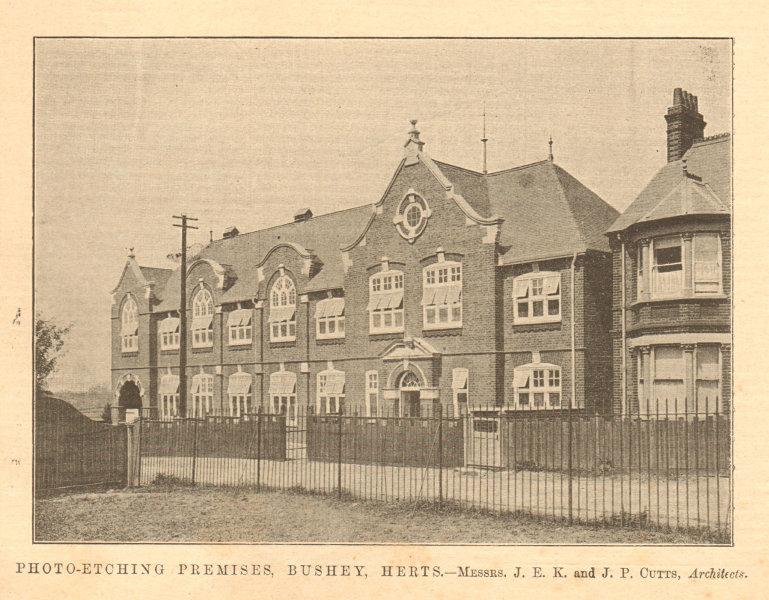 Associate Product Photo-etching premises, Bushey. JEK & JP Cutts, Architects. Hertfordshire 1904