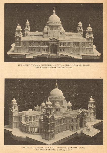 Queen Victoria Memorial, Calcutta. Sir William Emerson, Architect. India 1905