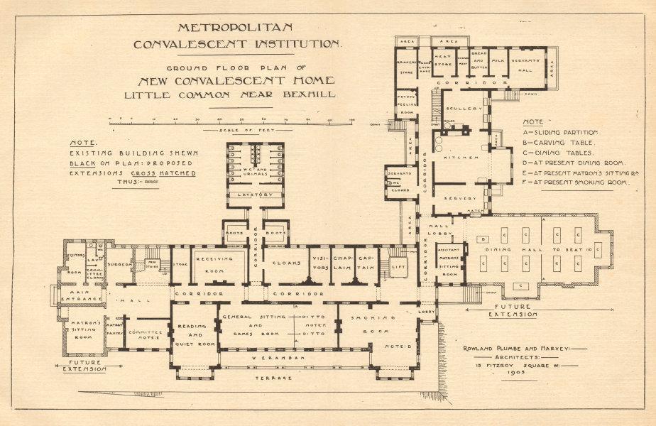 Associate Product Metropolitan Convalescent Institution, Little Common near Bexhill. Sussex 1905