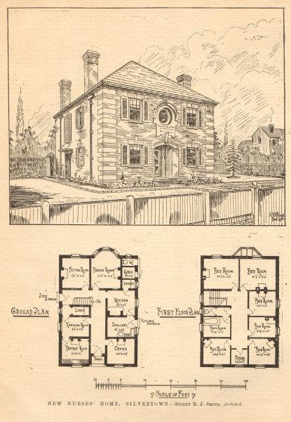 Associate Product New nurses' home, Silvertown. Sidney R.J. Smith, Architect. Plans. London 1905