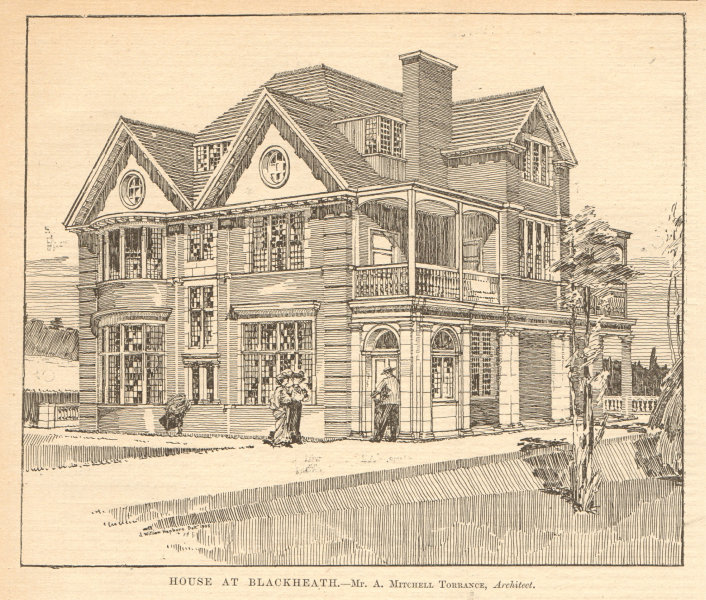 Associate Product House at Blackheath. A. Mitchell Torrance, Architect. Sketch. London 1905