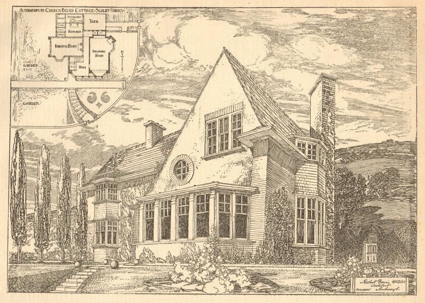 Associate Product Church Becks cottage alterations, Scalby, Yorkshire, Herbert Davis, Archt 1905