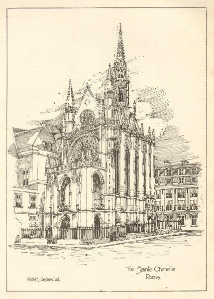 Associate Product The Sainte Chapelle, Paris, Arnold S. Constable Del 1905 antique print