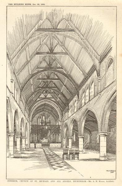 Associate Product Interior, Church of St. Michael & All Angels, Beckenham. AH Hoole Architect 1905