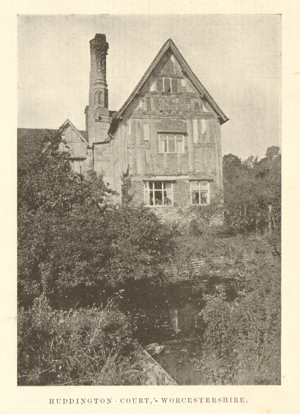 Associate Product Huddington Court, Worcestershire. By Fletcher Moss 1906 old antique print