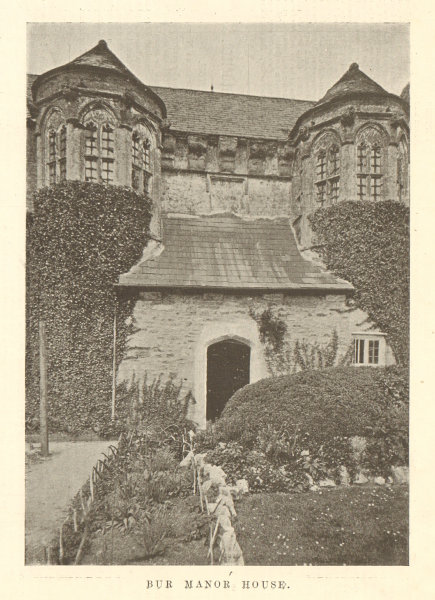 Associate Product Bur Manor house. Pilgrimages to Old Homes - by Fletcher Moss 1906 print