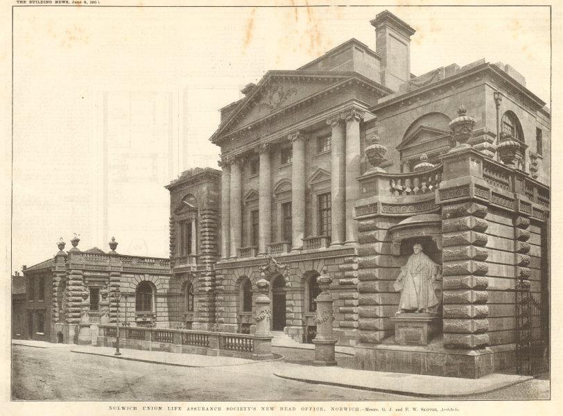 Associate Product Norwich Union Life Assurance Society's Head Office. GJ FW Skipper Architect 1906