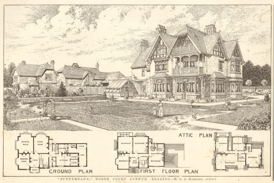 Associate Product Sunnymeade, North Court Avenue, Reading. WGA Hambling, Architect. Berkshire 1906
