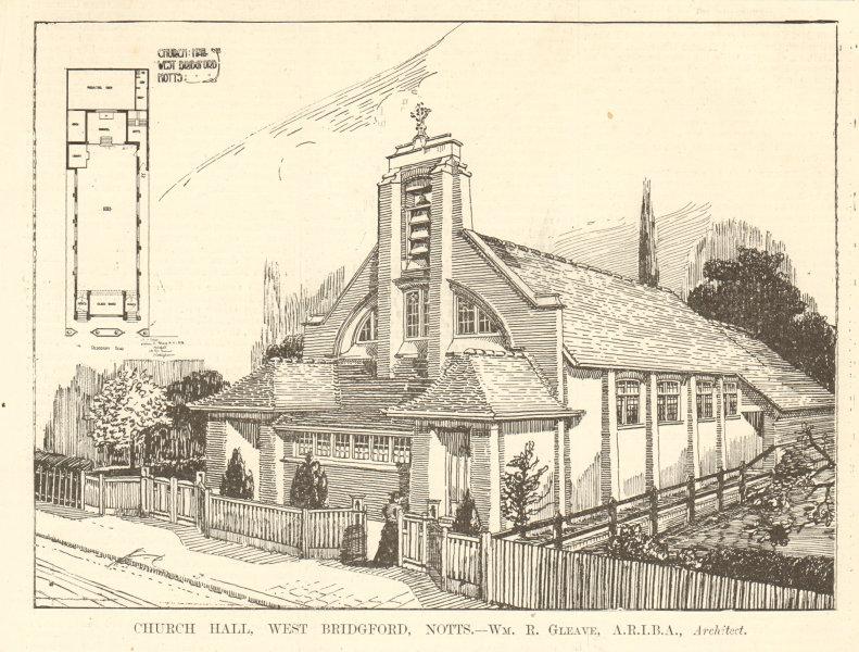 Associate Product Church Hall, West Bridgford. Wm. R. Gleave, Architect. Nottinghamshire 1906