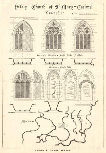 Associate Product Priory Church of St. Mary. Cartmel, Cumbria, by Frank Hearne. Windows aisle 1906