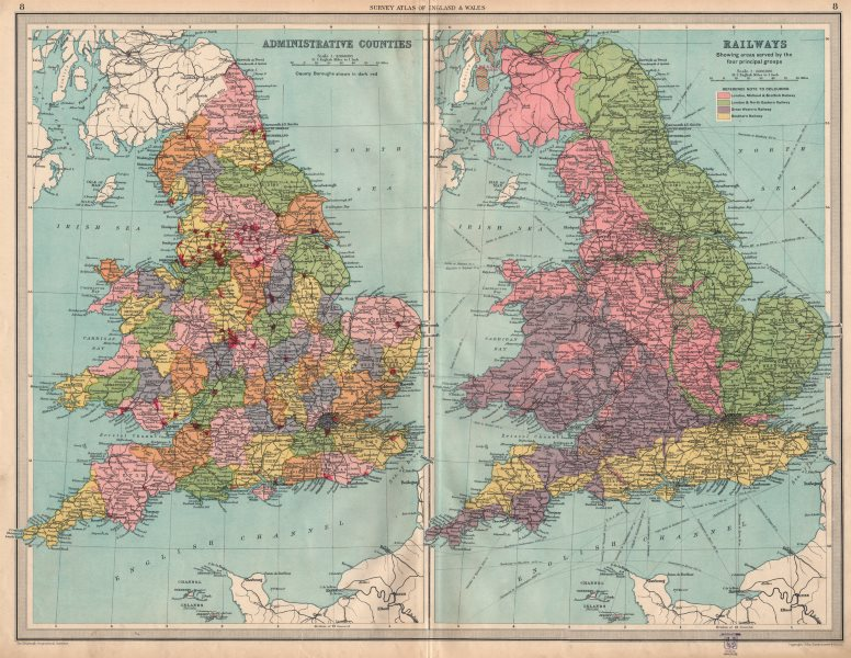 Map Of Uk With Counties.Details About Uk Counties Isle Of Ely Soke Of Peterborough Rail Companies Large 1939 Map