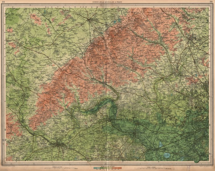 Associate Product CHILTERNS & WEST LONDON. Aylesbury Reading Slough High Wycombe. LARGE 1939 map
