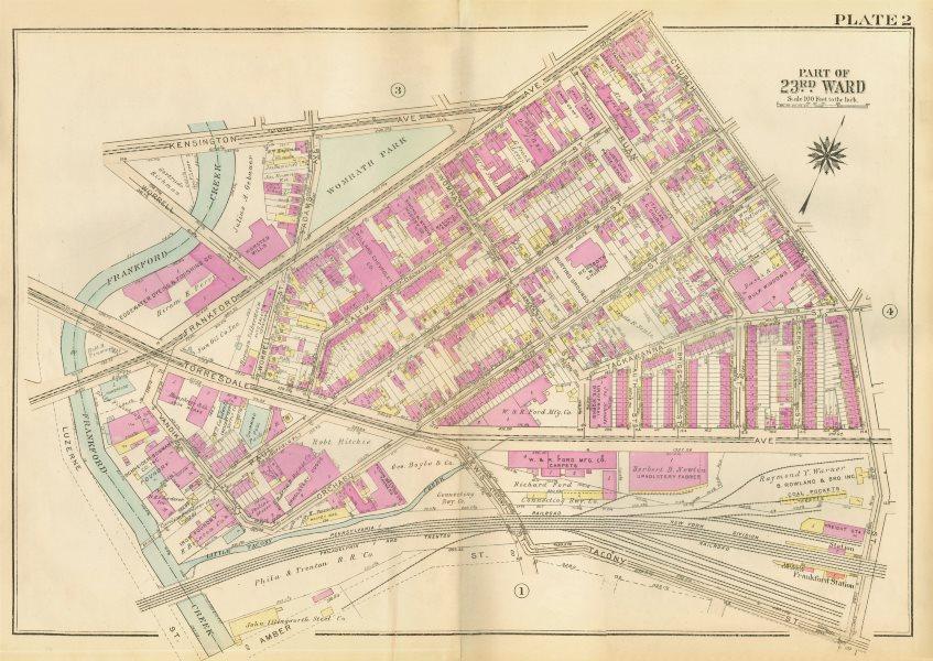Associate Product PHILADELPHIA Frankford. Church Ruan Womrath Salem Paul Orchard BROMLEY 1929 map