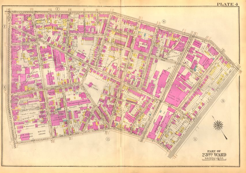 Associate Product PHILADELPHIA Frankford. Orthodox Kinsey Tackawanna Paul Ditman BROMLEY 1929 map