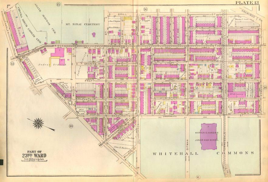Associate Product PHILADELPHIA. Frankford. Bridge Whitehall Pratt Ditman Edmund. BROMLEY 1929 map