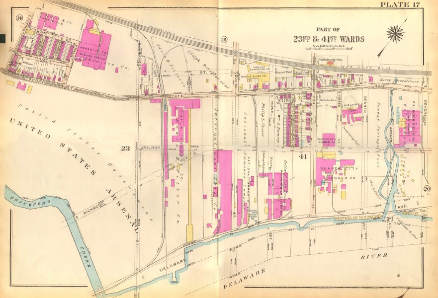Associate Product PHILADELPHIA. Frankford Wissinoming. State Devereaux Milnor. BROMLEY 1929 map