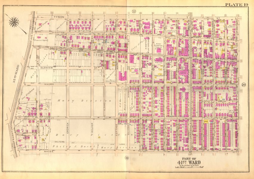 Associate Product PHILADELPHIA Tacony. Disston Longshore Tyson Magee Unruh Knorr BROMLEY 1929 map