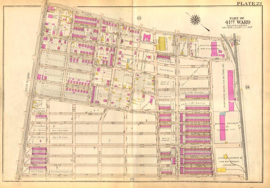 Associate Product PHILADELPHIA Holmesburg. Ditman Rhawn Bleigh Decatur Sheffield BROMLEY 1929 map