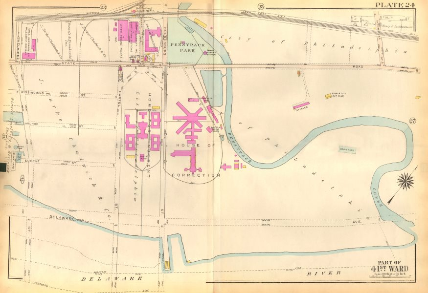 Associate Product PHILADELPHIA. Holmesburg. Pennypack. State Rd. Curran-Fromhold BROMLEY 1929 map