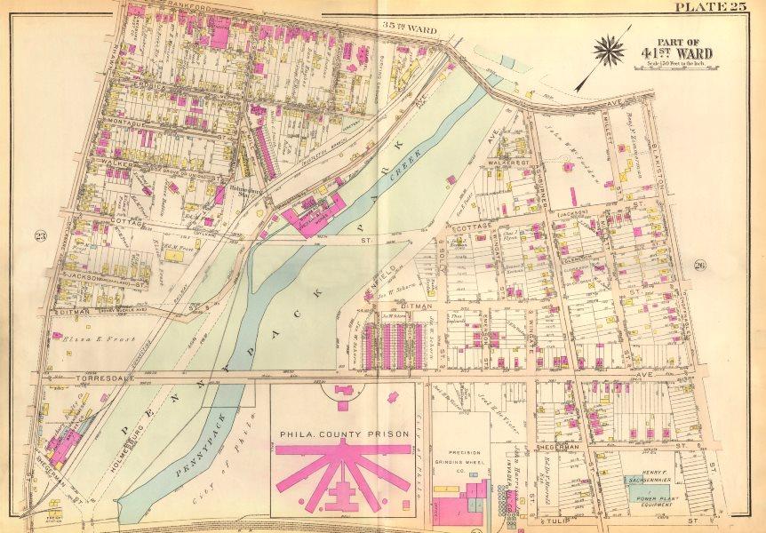 Associate Product PHILADELPHIA. Holmesburg. Pennypack Erdrick Cottage Ashburner. BROMLEY 1929 map