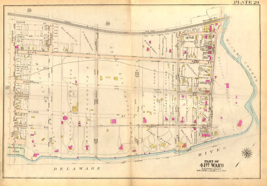 Associate Product PHILADELPHIA. Torresdale. Convent Arendel State Filter Grant. BROMLEY 1929 map