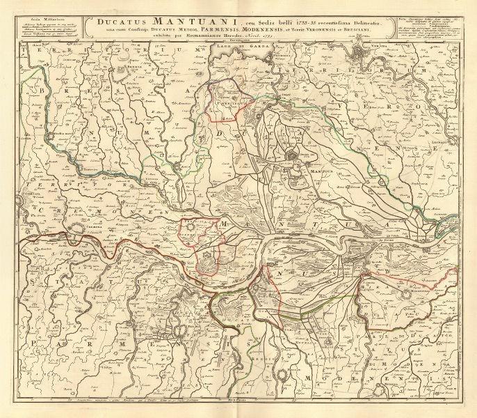 Ducatus Mantuani Duchy of Mantua Verona Cremona Parma Reggio