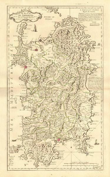 Associate Product 'Le Royaume de Sardaigne'. Sardegna. Kingdom of Sardinia. LE ROUGE 1753 map