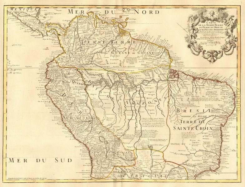 Associate Product 'Terre Ferme du Perou du Bresil..'. Spanish Main. DE L'ISLE/BUACHE 1745 map