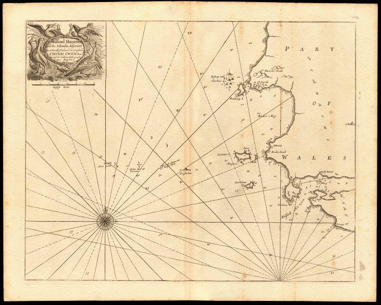 Associate Product MILFORD HAVEN & adjacent coast chart. St Brides Bay St Davids. COLLINS c1774 map