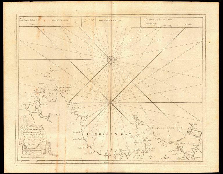 Associate Product 'Coast of Wales' sea chart. Cardigan Bay. Pembrokeshire Coast. COLLINS c1774 map