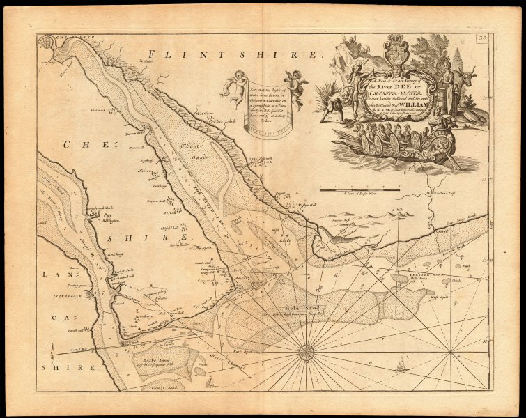 Associate Product 'The River Dee or Chester-Water' sea chart. Wirral Merseyside. COLLINS c1774 map