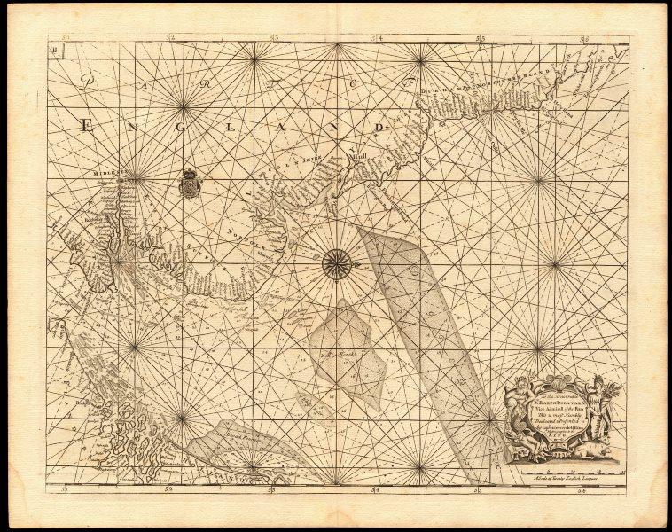 NORTH SEA coast chart. East coast of England Holland Flanders. COLLINS c1774 map