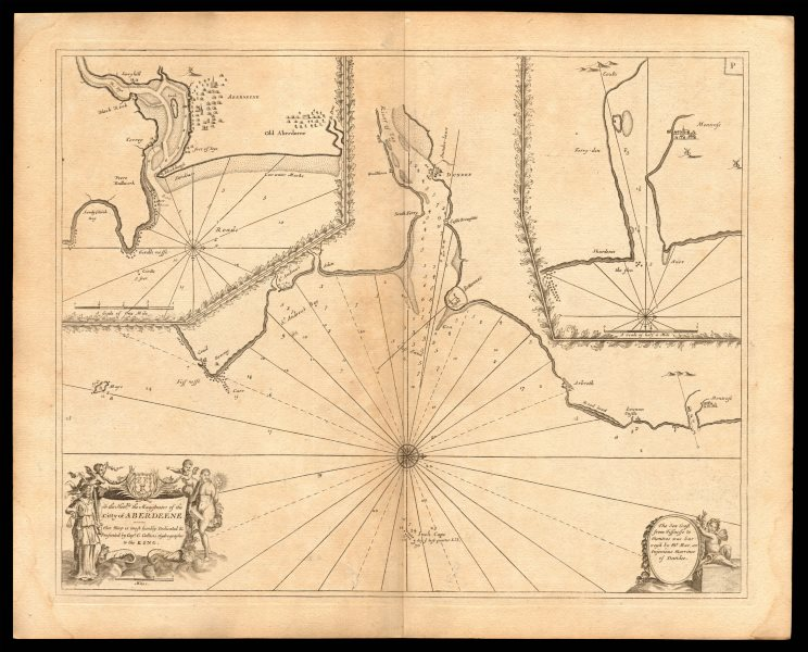 Approaches to ABERDEEN, DUNDEE & MONTROSE sea chart. Tay. COLLINS c1774 map