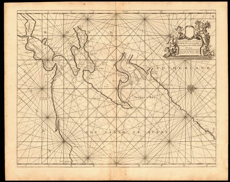Associate Product 'Firth of Murry' sea chart. MORAY FIRTH Inverness Cromarty. COLLINS c1774 map