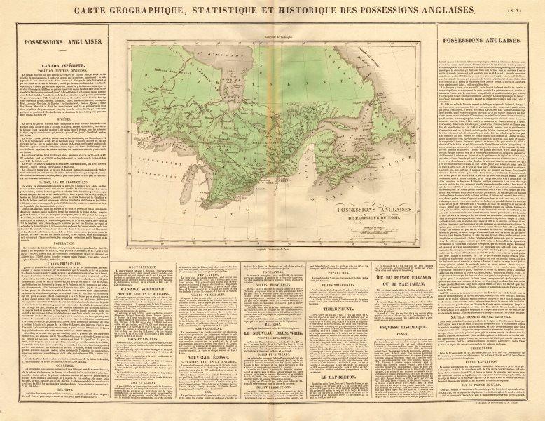 Associate Product 'Possessions anglaises de l'Amerique du Nord'. British America. BUCHON 1825 map