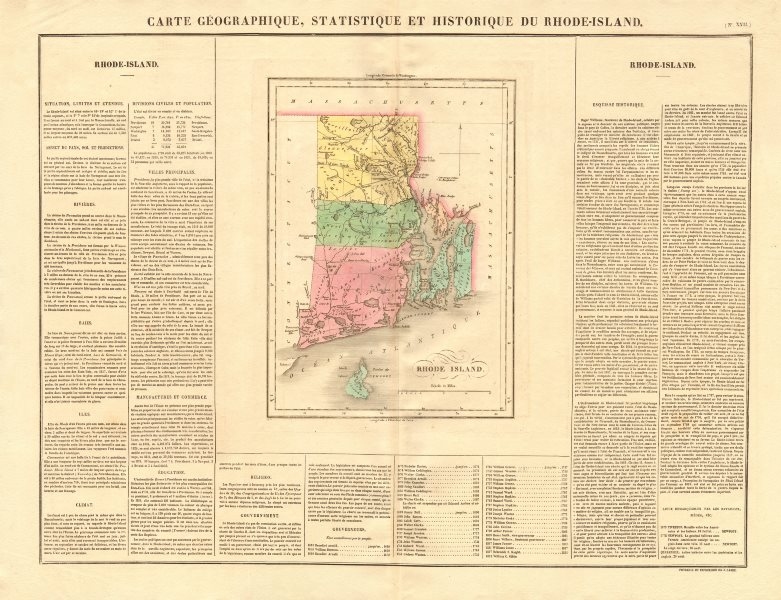 Associate Product Rhode Island antique state map. Counties. BUCHON 1825 old chart