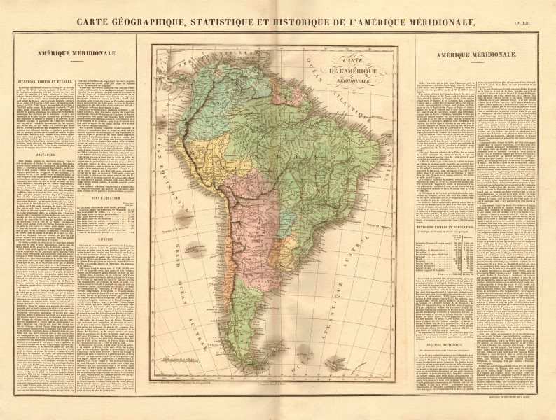 Associate Product 'L'Amérique méridionale'.South America newly independent states. BUCHON 1825 map