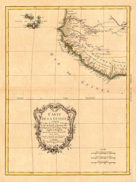 Associate Product 'Carte de la Guinée, contenant…'. Guinea & Cape Verde islands. BONNE 1771 map