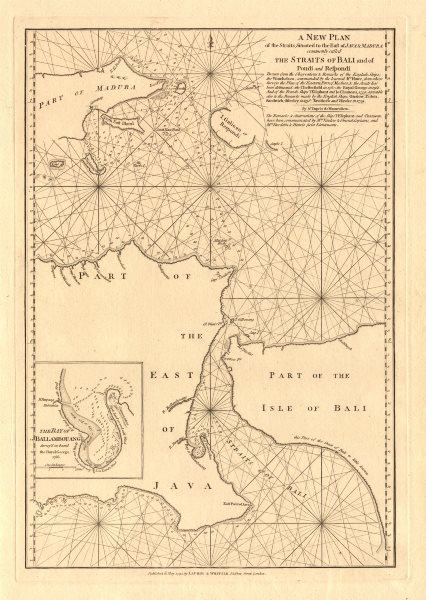 Associate Product 'The Straits … to the East of Java'. Bali Straits. LAURIE & WHITTLE 1794 map