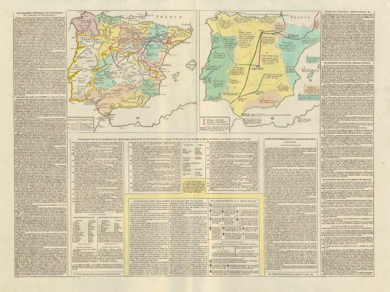 Associate Product 'Geographie Physique et Politique de L'Espagne et du Portugal'. LE SAGE 1807 map