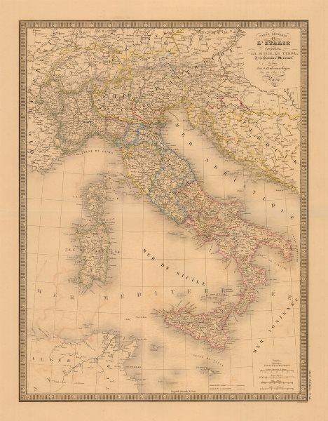 Associate Product 'L'Italie comprenant La Suisse, Le Tyrol…'. ANDRIVEAU-GOUJON. Italy 1846 map