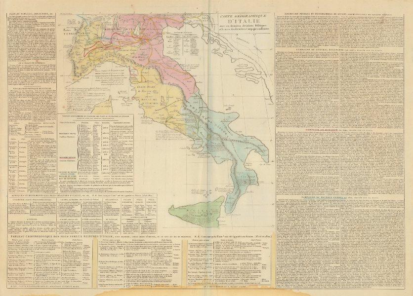Associate Product 'Carte geographique d'Italie avec ses dernières divisions…'. LE SAGE 1812 map