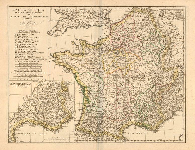 Associate Product 'Gallia Antiqua ex Aevi Romani Monumentis eruta…' D'ANVILLE. Gaul 1760 old map